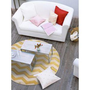 tapis rond jaune achat vente tapis rond jaune pas cher cdiscount. Black Bedroom Furniture Sets. Home Design Ideas