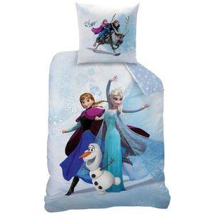 housse de couette 2 personnes reine des neiges achat. Black Bedroom Furniture Sets. Home Design Ideas