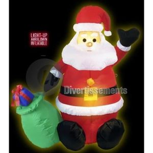 Pere noel gonflable achat vente pere noel gonflable for Pere noel exterieur