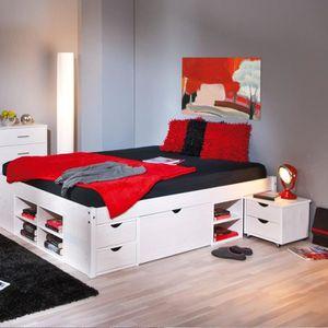 Lit avec rangement achat vente lit avec rangement pas - Lit une personne avec rangement ...