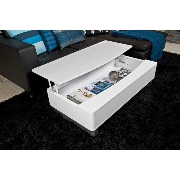table basse design r glable en bois laqu perma achat vente table basse table basse design. Black Bedroom Furniture Sets. Home Design Ideas