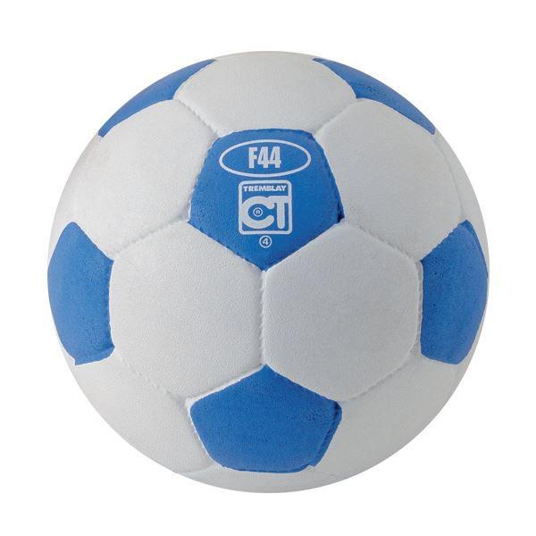ballon football caoutchouc taille 4 blanc bleu prix pas cher cdiscount. Black Bedroom Furniture Sets. Home Design Ideas