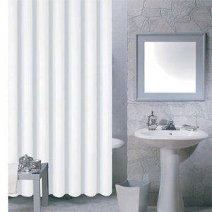 RIDEAU DE DOUCHE MSV 140030 Rideau de Douche Plastique Blanc 180 x