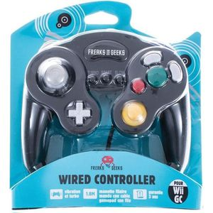 MANETTE CONSOLE Manette Noire Game Cube Wii fonction turbo/slow
