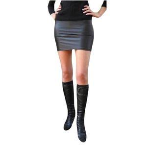 jupe simili cuir achat vente jupe simili cuir pas cher cdiscount. Black Bedroom Furniture Sets. Home Design Ideas
