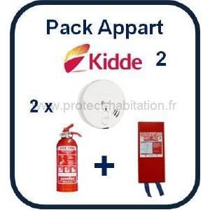 pack incendie appartement kidde 2 pack kidde 2 2 d tecteurs kidde 29 fr 1 extincteur 1kg abc. Black Bedroom Furniture Sets. Home Design Ideas