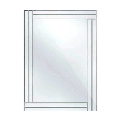 Premier housewares miroir bords biseaut s 70 x 50 cm for Accrocher miroir au mur