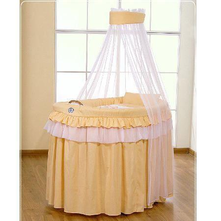 Berceau b b en osier complet avec textile p che achat vente berceau et s - Cdiscount berceau bebe ...