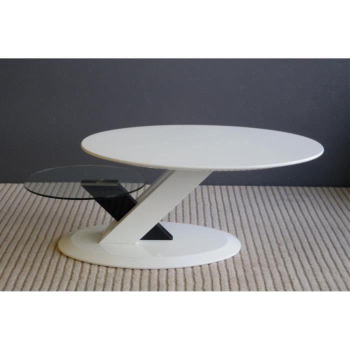Table Basse Design Noir Et Blanc Laqu Punto Achat