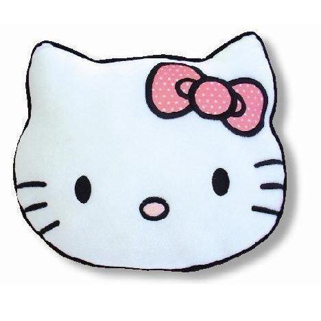 coussin coussin hello kitty en forme de tte - Coussin Color Pas Cher