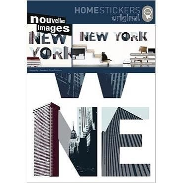 stickers muraux adhesif mural xxl new york lettres achat vente plaque de porte lettre. Black Bedroom Furniture Sets. Home Design Ideas