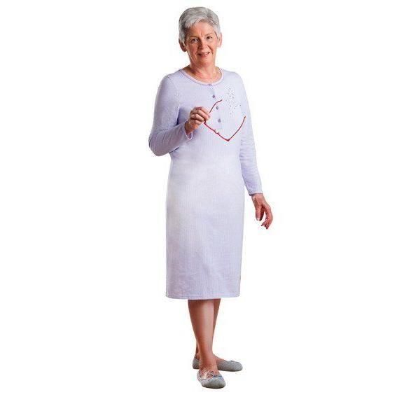 chemise de nuit manche longue pa violet violet achat vente pyjama chemise de nuit. Black Bedroom Furniture Sets. Home Design Ideas