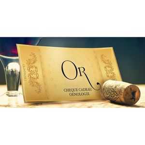 COFFRET OENOLOGIE Pochette cadeau cours oenologie OR - 25 villes
