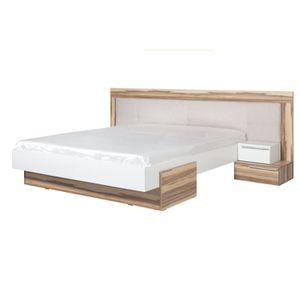 lit blanc 160x200 2 chevets white achat vente structure de lit lit blanc 160x200 2 chevets. Black Bedroom Furniture Sets. Home Design Ideas