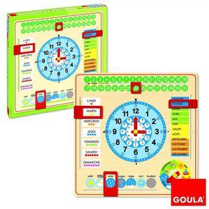 AGENDA - ORGANISEUR Horloge calendrier Français