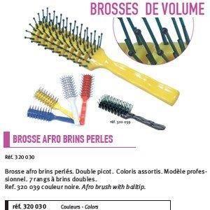 BROSSE - PEIGNE Brosse afro brins perles