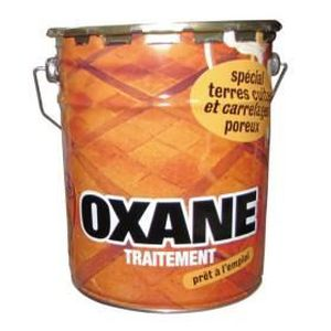 Huile d oxane terre cuite