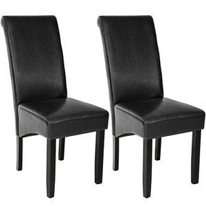CHAISE 2 Chaises de salle à manger design 105 cm Noir, Ch