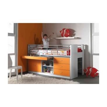 lit enfant multifonctions savane orange achat. Black Bedroom Furniture Sets. Home Design Ideas