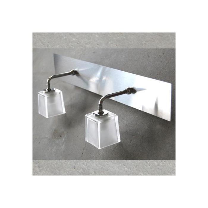 Luminaire salle de bain double boreal achat vente for Salle de bain eclairage