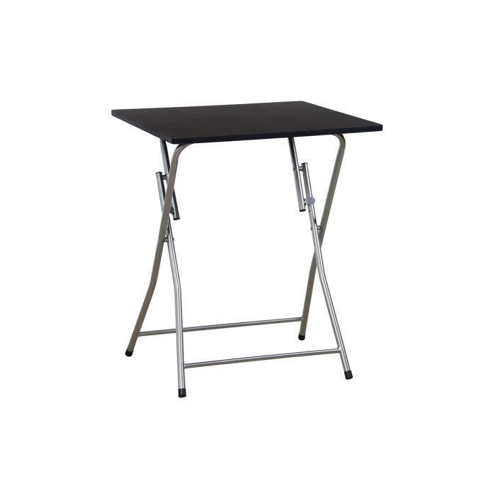 table d 39 appoint pliante noire layon achat vente. Black Bedroom Furniture Sets. Home Design Ideas