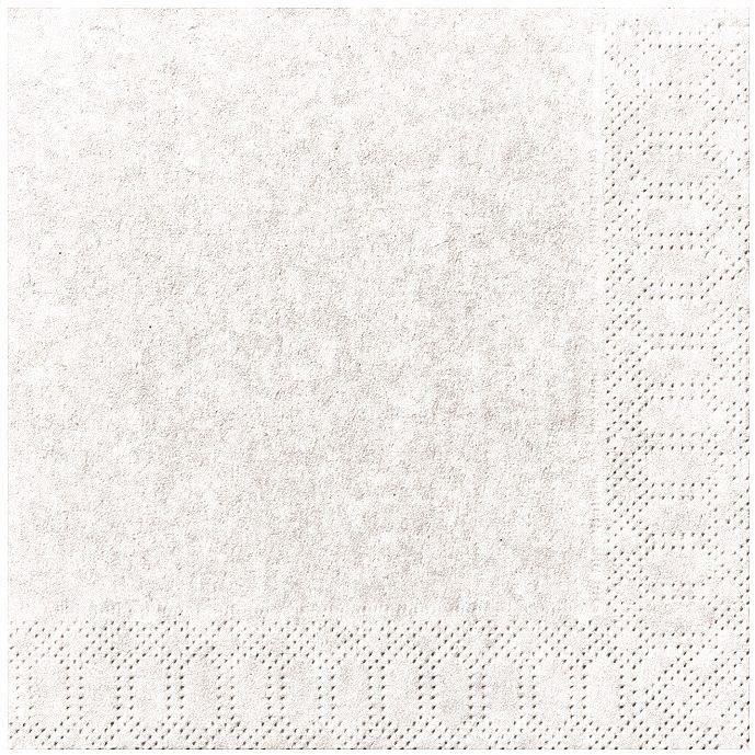 Duni serviette 33x33 3 plis x 20 blanc achat vente for Serviette de plage carre blanc