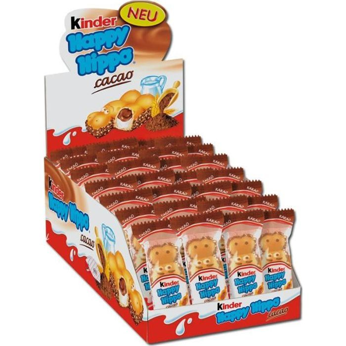 ferrero kinder happy hippo snack cacao chocolate 28 pi ces. Black Bedroom Furniture Sets. Home Design Ideas