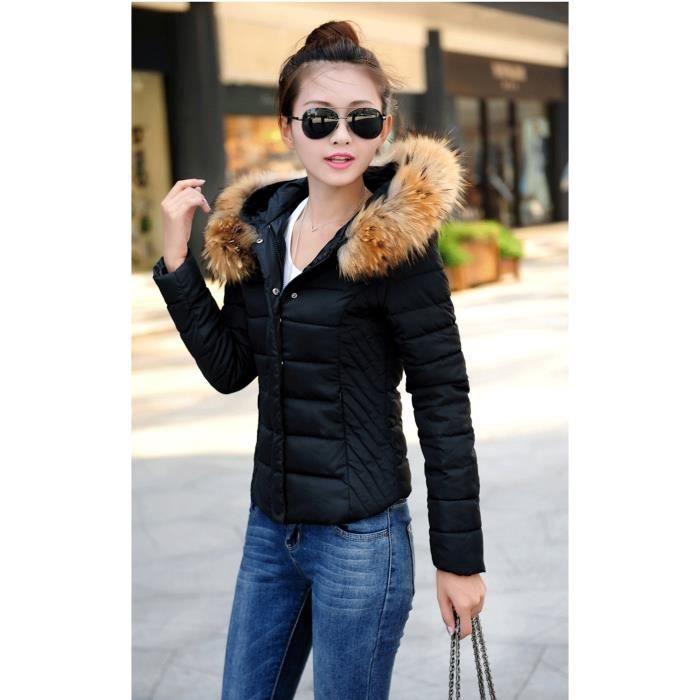 doudoune blouson veste femme luxe col fourrure achat vente doudoune 2009949237308 cdiscount. Black Bedroom Furniture Sets. Home Design Ideas