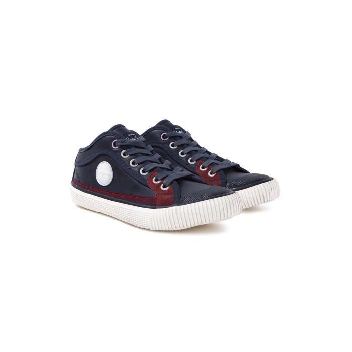 baskets pepe jeans bleu achat vente basket soldes cdiscount. Black Bedroom Furniture Sets. Home Design Ideas