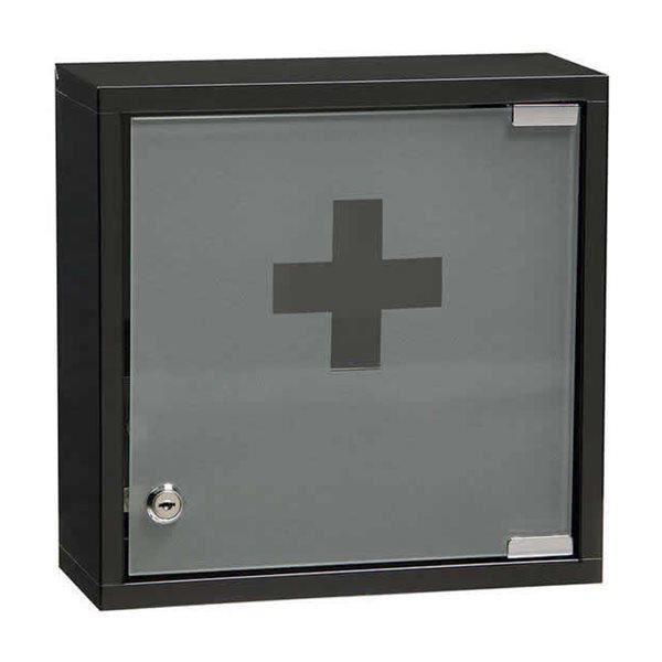 armoire a pharmacie noir rossignol 30 x 30 x 12 cm porte avec fermeture cle achat vente. Black Bedroom Furniture Sets. Home Design Ideas