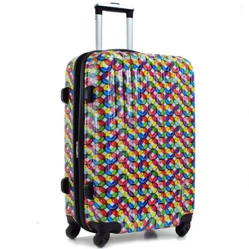 valise smiley trolley case 60 cm multicolore achat vente valise bagage valise smiley. Black Bedroom Furniture Sets. Home Design Ideas