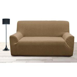 Housse de canape 3 places avec accoudoirs achat vente housse de canape 3 - Housse de canape en lin ...