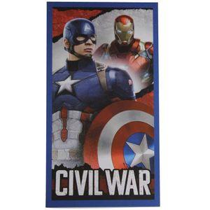 SERVIETTE DE PLAGE Captain America Serviette de plage Garçon Civil Wa