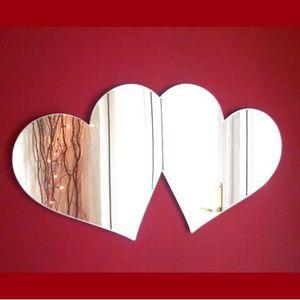 Miroir coeur achat vente miroir coeur pas cher cdiscount for Miroir acrylique incassable