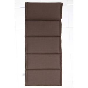Coussin pour fauteuil de jardin Chocolat 110 x 45 cm