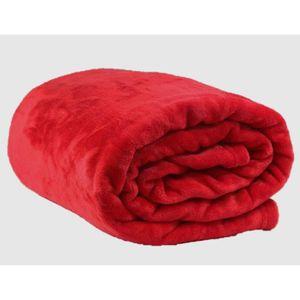 plaid rouge achat vente plaid rouge pas cher cdiscount. Black Bedroom Furniture Sets. Home Design Ideas