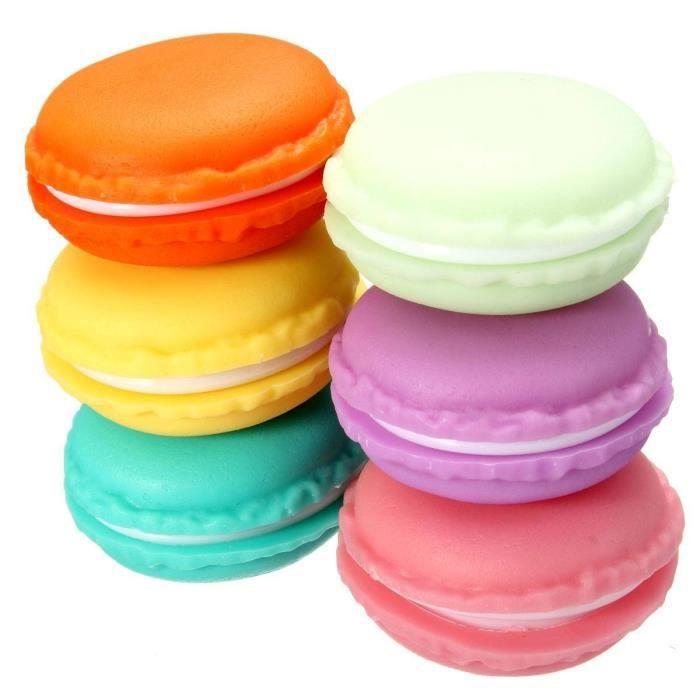 6 pcs petite bo te ecrin de rangement forme macarons pour - Boite a bijoux pour collier ...