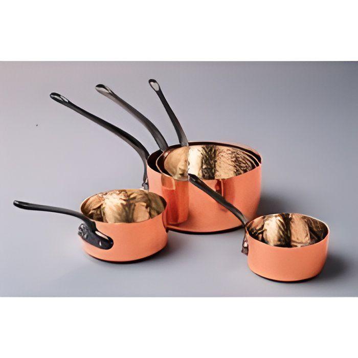 5 casseroles cuivre 12 20 cm baumalu achat vente for Ustensiles de cuisine en cuivre