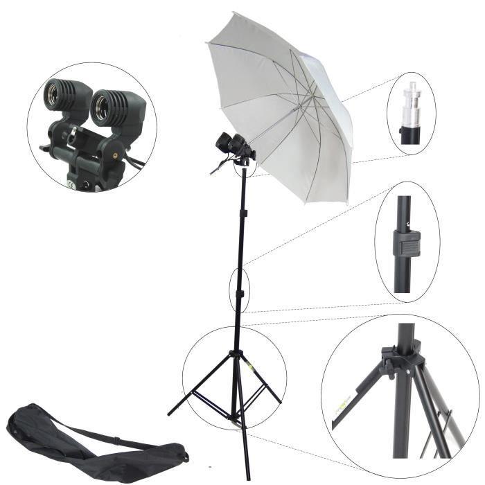 dynasun mm2kit 2in1 e27 kit d 39 clairage studio achat vente kit studio photo soldes d. Black Bedroom Furniture Sets. Home Design Ideas