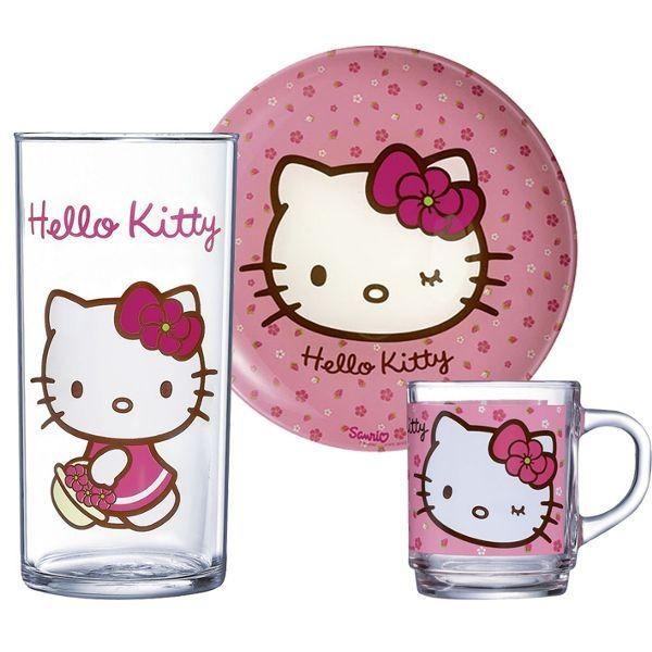 luminarc hello kitty service vaisselle enfant achat vente service complet cdiscount. Black Bedroom Furniture Sets. Home Design Ideas