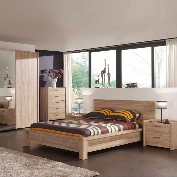 lit adulte florine 140x200cm achat vente structure de lit lit adulte florine 140x200cm. Black Bedroom Furniture Sets. Home Design Ideas