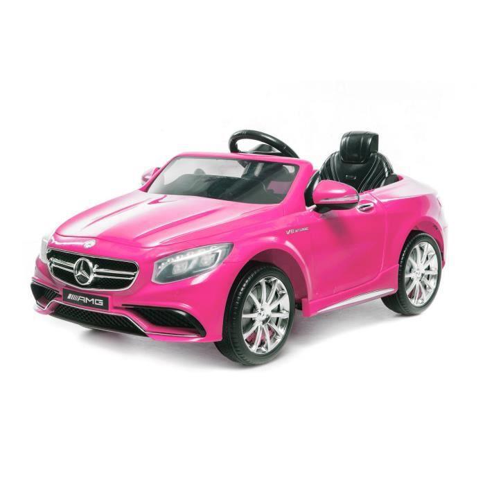 voiture lectrique pour enfant mercedes s63 amg 2 x 35w rose achat vente voiture enfant. Black Bedroom Furniture Sets. Home Design Ideas