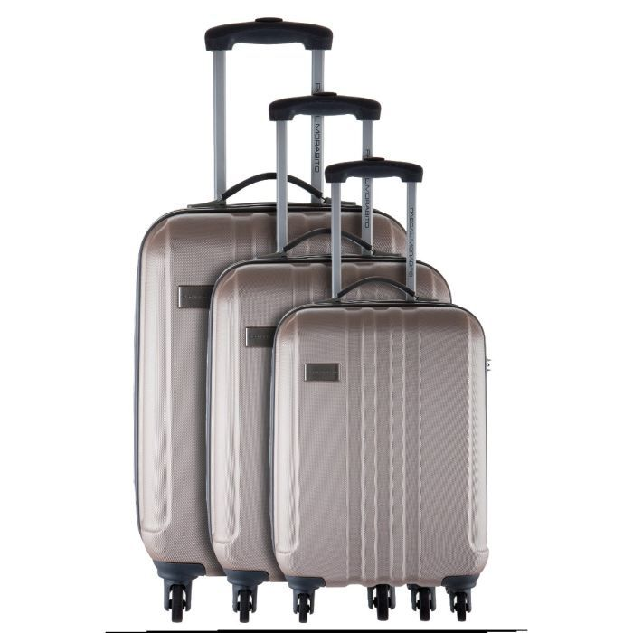 pascal morabito 3 valises trolley 4 roues silona beige achat vente set de valises pascal. Black Bedroom Furniture Sets. Home Design Ideas
