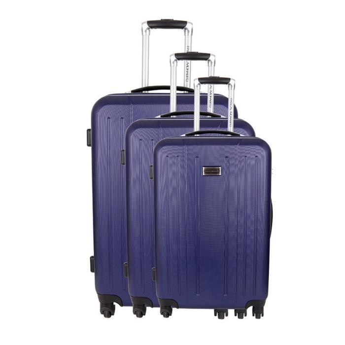 pascal morabito set de 3 valises coesite bleu achat vente set de valises 3607070571309. Black Bedroom Furniture Sets. Home Design Ideas