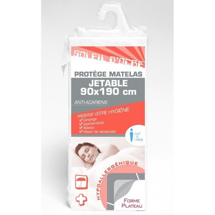 Prot ge matelas jetable 90x190 cm achat vente linge de lit jetable cdiscount for Protege matelas jetable