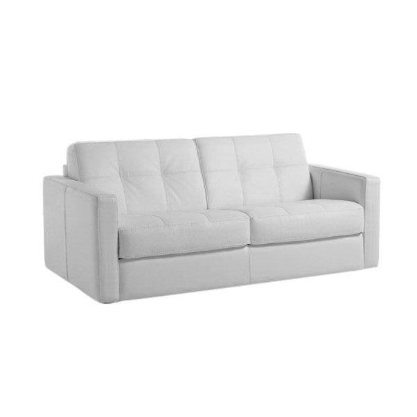 canap convertible tetris vrai cuir blanc 120x190 achat vente canap sofa divan cuir. Black Bedroom Furniture Sets. Home Design Ideas