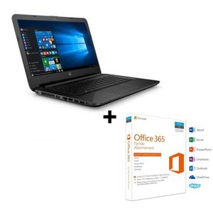 Pack PC Portable HP 14ac120 + Office Famille