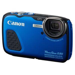 APPAREIL PHOTO COMPACT CANON D30 Bleu - CMOS 12 MP Zoom 5x Appareil photo