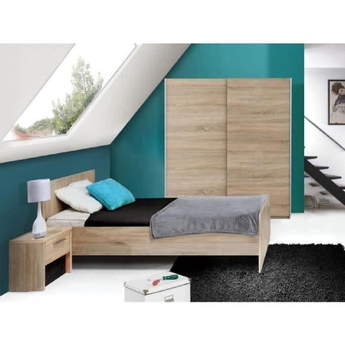 Capricia chambre enfant compl te lit armoire chevet for Chambre adulte alinea