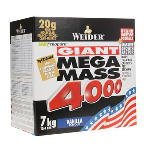 PACK NUTRITION SPORTIVE WEIDER MEGA MASS 4000 VANILLE 7 kg NTT